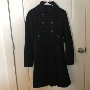 Pea-coat black size small 60%wool